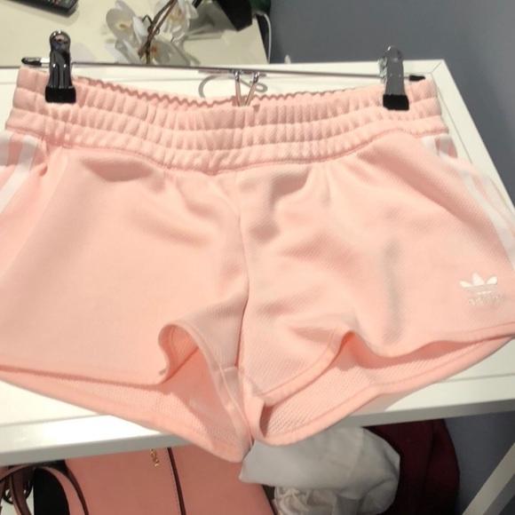 adidas Shorts   Adidas Baby Pink Shorts